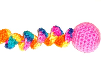 Catnip Cat Toy Ball with Curly Tail