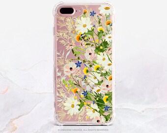 iPhone X Case iPhone 8 Case iPhone 7 Case Summer Floral Clear GRIP Rubber Case iPhone 7 Plus Clear Case iPhone SE Case Samsung S8 Case U387