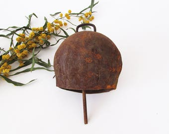 Vintage Cow Bell,Large Cattle Bell,Blacksmith Hand Forged Vintage Bell,Cowbell ,Farmhouse Decor ,Rustic Decor