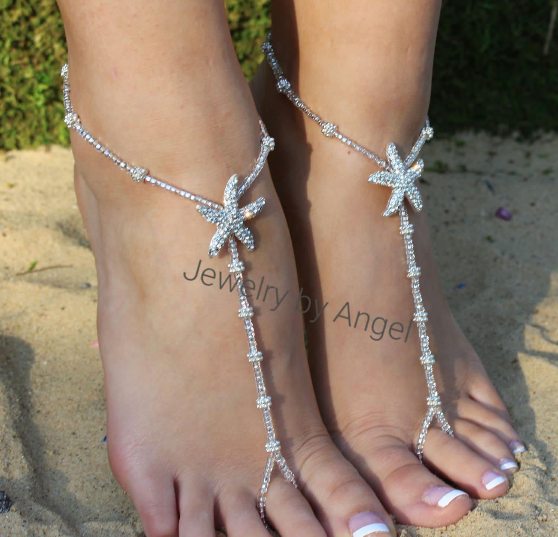 Wedding Barefoot Sandals,Starfish Foot Jewelry,Starfish Barefoot Sandal, Bridesmaid Gift, Starfish Jewelry, Footless sandals, Beach Wedding