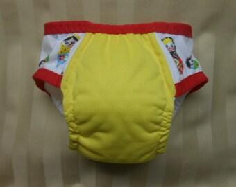 Girls adjustable Cloth Training Pants sz med adjusts to small