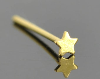 Nose Ring, star nose ring, sterling silver, nose stud, nose piercing, nose jewelry, body jewelry