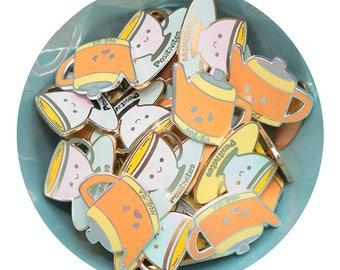 SECONDS SALE: Enamel pin, various styles - cute, gift, halloween, tea