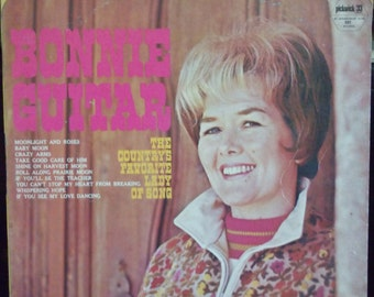 Bonnie Guitar, The Country's Favorite Lady of Song, Vintage Record Album, Vinyl LP, Country Western Music, Singer Songwriter,