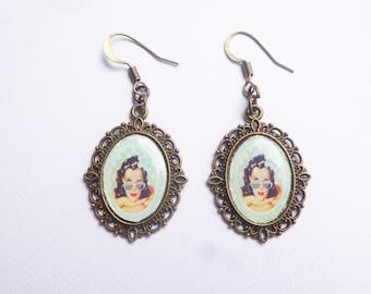 Pin up retro earrings