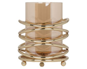 Emily Maxwell Luxury Glass Candle Holder - W 16 cm / D 16 cm / H 20 cm / 1.74 kg