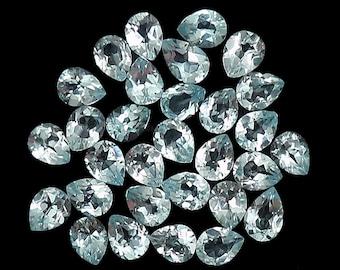 10 Pices Sky Blue Topaz Loose Gemstone 5x4 mm