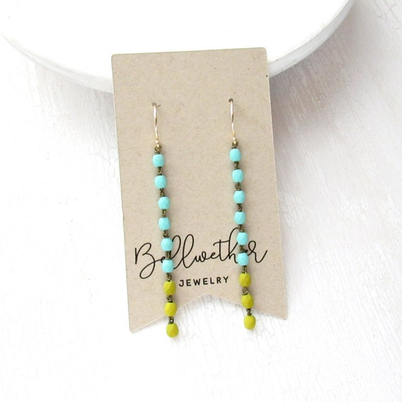 Cascade Earrings > Blue