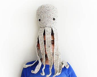 """CROCHET PATTERN in English - Milo the Friendly Octopus - 26"""" / 66 cm. tall - Amigurumi Animal Toy - Instant PDF Download"""