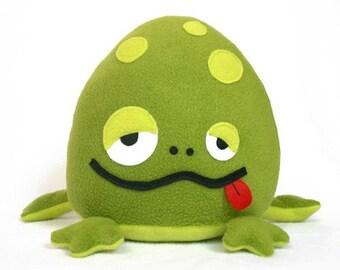 Bubbo stuffed frog toy