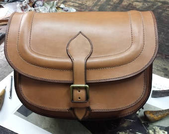 Woman's handbag made of real calf leather