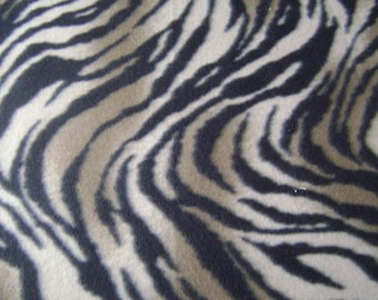 Zebra Print Fleece Fabric by the yard