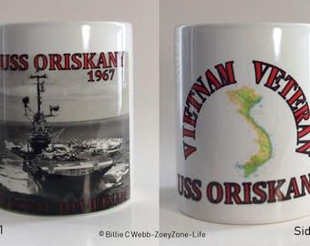 "USS Oriskany - Navy Air Craft Carrier - On The Way To Vietnam ""1967"" - With Quote: ""Vietnam Veteran"""