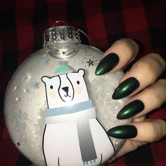 Sleeping Bags and Stargazing Green gemstone Nail Polish jewel tone emerald vegan