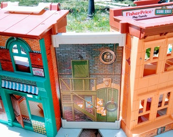 Vintage Fisher Price Sesame Street Playset with BOX and Extras