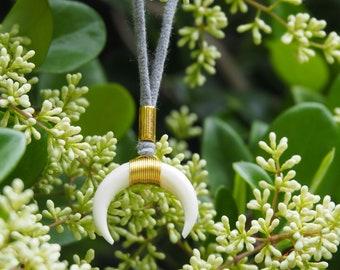 soapstone crescent pendant