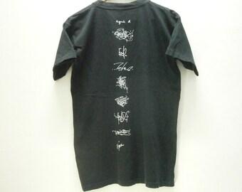 Super Rare! Authentic AGNES B graffiti artist collaboration t shirt size M