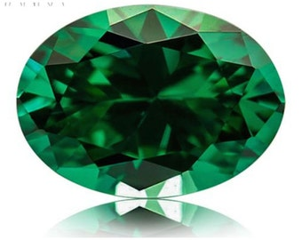 Cubic Zirconia Oval Grass Green AAA Rated CZ Loose Stones (5x3mm - 25x20mm)