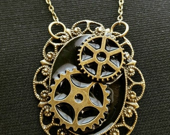 Steampunk GEARS necklace