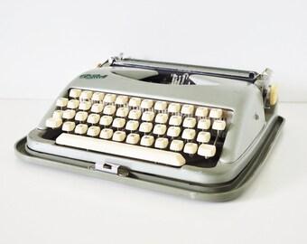 Vintage Typewriter - Green Cole Steel Portable Typewriter