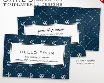 Nautical Business Card Template - Business Card Design Template - DIY Printable Business Card Template Design Japanese BCIN AAC