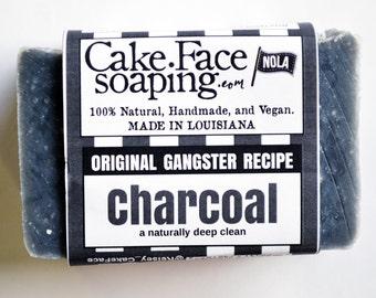 Charcoal soap natural vegan soap bar coconut soap for men handcrafted soap bar charcoal natural soap body wash face wash salt soap