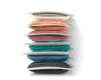 Paper Yarn - Paper Twine - Set of 6 Dusty Pop Colors (6 x 11 yards)