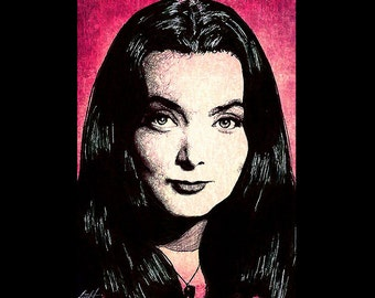 "Print 11x17"" - Morticia Addams - The Addams Family Morticia Gomez Wednesday Classic Dark Art Comedy TV Horror Gothic Pop Art Gothic Vintage"