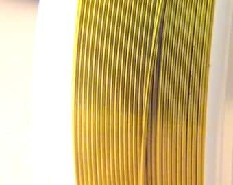 spool of 12 M Fil 0.4 mm - gold - for DIY jewelry - F7