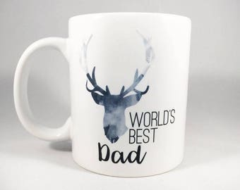 World's Best Dad Mug - Dad Mug - Dad Coffee Cup - Father's Day Mug - Father's Day Gift - Gift for Dad - Dad Cup - Gift for Father - Mugs