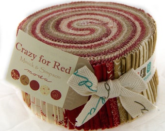 Crazy for Red Jelly Roll by Minick & Simpson