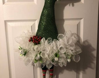 Deco Mesh Elf Hat