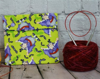 Vampire- Count Dracula Circular Knitting Needle Case/ Notions case for Knitting Notions, Crochet notions, Accessories, Halloween Knitting