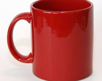 Waechtersbach Germany Solid Red Cup Mug Ceramic & Waechtersbach   Etsy
