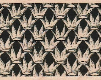 Rubber stamp Tangle  Zentangle wood Mounted  scrapbooking supplies number 18844   crown flower