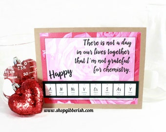 I DO...love geeks - Anniversary Card - Science, Chemistry Gift Idea
