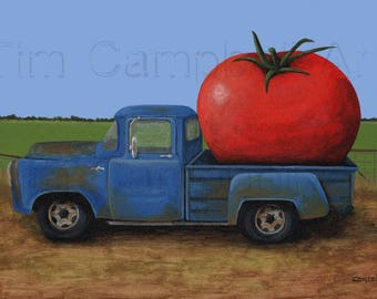 Tomato Truck Giclee Print by Tim Campbell