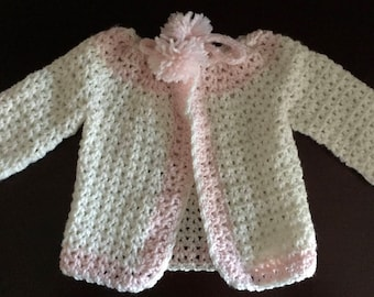 Handmade Crochet Baby Poncho - Baby Girl Poncho - Made to Order - by Stella's Stitch