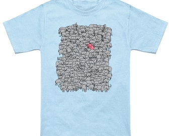 Stand Up & Be Herd pink elephant herd Graphic T-shirt