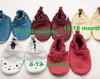 HOT SALE! Baby shoes, Soft sole baby shoes Leather baby shoes, Baby girl shoes, Baby boy shoes, Size 6-12, 12-18 - months