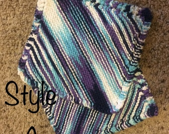 Hand Knit Washcloth 2-pack (Large)