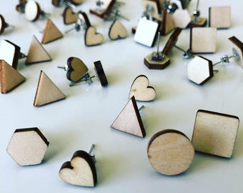 Wooden studs *ALL SHAPES*