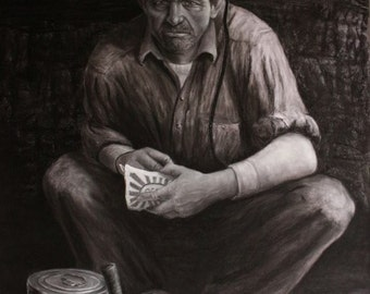 Waitin' On the Mantrip - Limited Edition Fine Art Print by Appalachian Artist Wayne Hensley (Signed and Numbered)