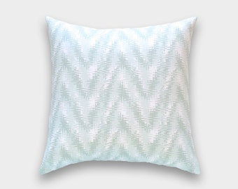 CLEARANCE 50% OFF. Artichoke Green Rhodes Throw Pillow Cover. Geometric Cushion. Pale Green Decorative