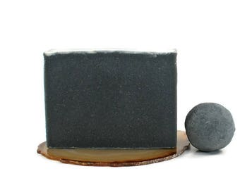 Dad Gift | Charcoal Tea Tree Soap | Facial Soap, Acne Soap, Cold Process Soap, Vegan Soap, Activated Charcoal, Black Soap, Soap for Acne