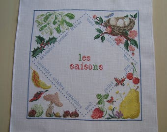 The colorful seasons cross-stitch Embroidery