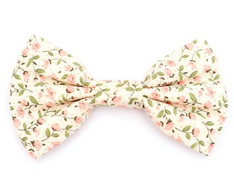 The Glenmore Bow Tie — Dog Bowtie, Brooklyn Bowtied, Floral, Flowers, Pink, Girly, Flower, Wedding Clothes, Ring Bearer, Collar, Outfit