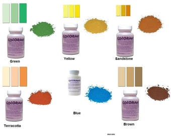 MOSAIC COLORANT Dye Pigment Diamond Tech Choose 3 oz Bottles Great For Indoor and Outdoor Crafts Projects Highly Concentrated