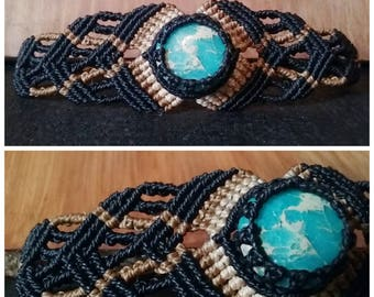Snake-Skin jasper Bracelet