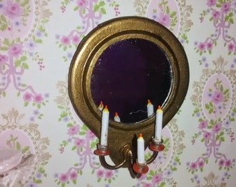 12th Scale Dolls House Circular Mirror